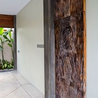 bali wooden house villas with three bedroom and swimming pool design concept 3