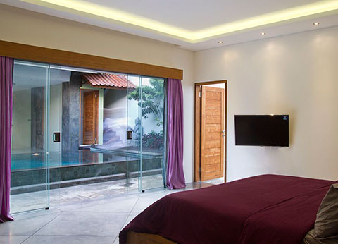 bali wooden house villas with three bedroom and swimming pool design concept 5