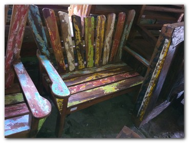 Recycled Boat Furniture Custom Design Bali