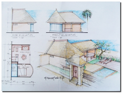 villa design floor plan 1 - Balinese House Designs