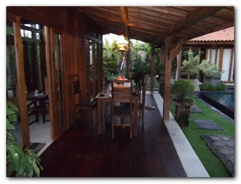bali joglo villa main house out door sitting - Balinese Houses Designs